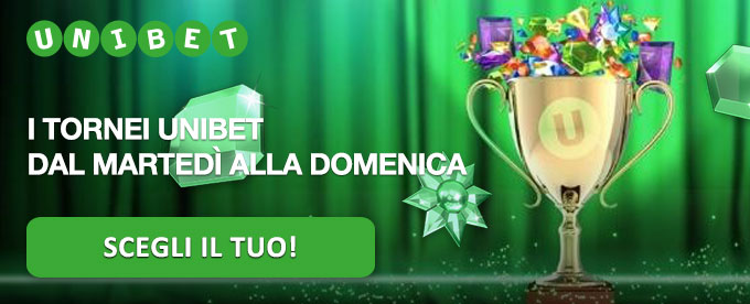 Offerta del weekend di Unibet