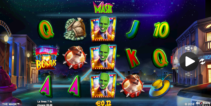 La slot machine di The Mask è nei casino italiani