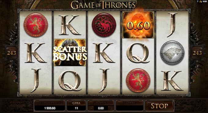 Trono di Spade - Gioca alla video slot di GOT!