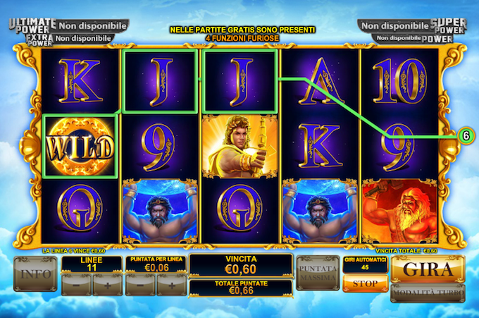The furious gods of Age of the gods - La slot on line Playtech