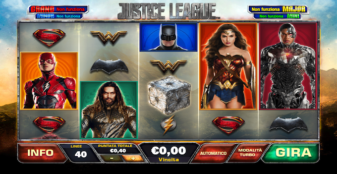 La slot machine Justice League
